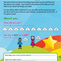 image of Children's Survey designed for Devon County Council