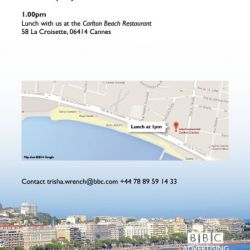 BBC Cannes Printed Weds Lunch