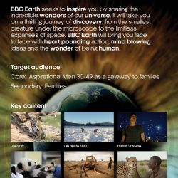 BBC Earth Call Sheet Flyer