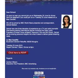 BBC Cannes Email Design