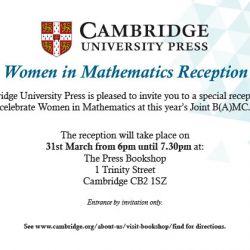 CUP BaMC invite WOMEN IN MATHS