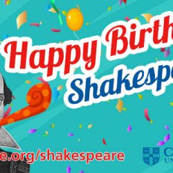 Shakespeare Birthday Hero Banner